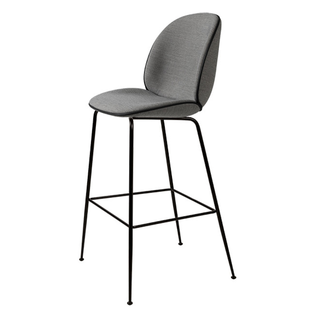 Gubi Beetle Stool in Grey Remix 143 / black base