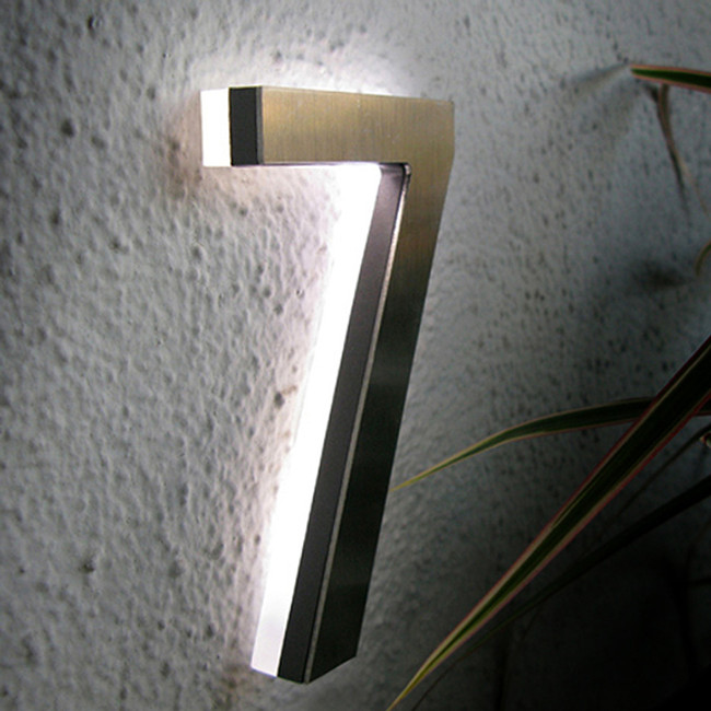 The LED House Numbers are made from a solid piece of aluminium