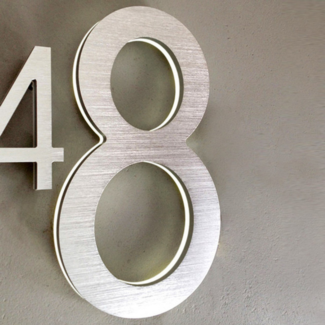 "The modern House numbers are avaiable in 8"" and 5"" sizes"