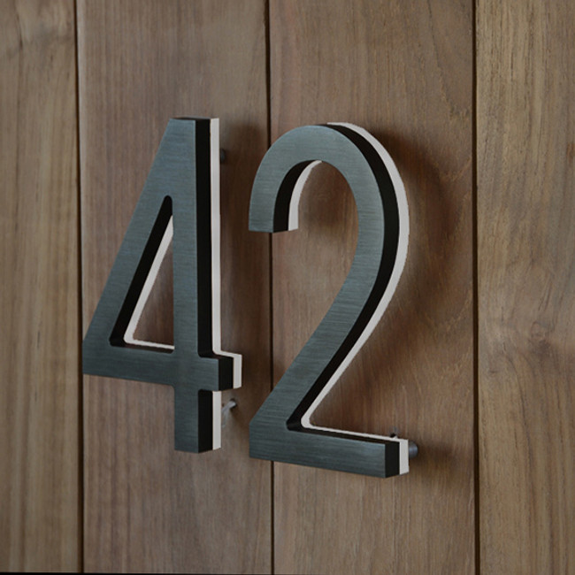 The LED Bronze House Numbers are made from a solid piece of aluminium