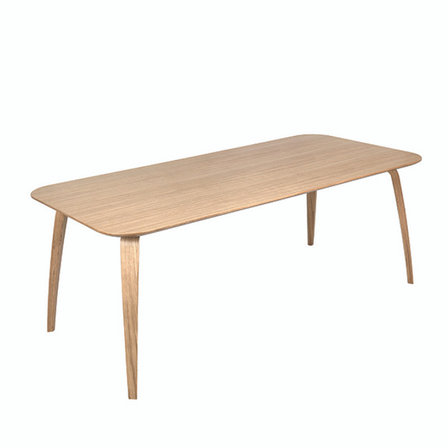 Gubi Dining Table Rectangular in Oak