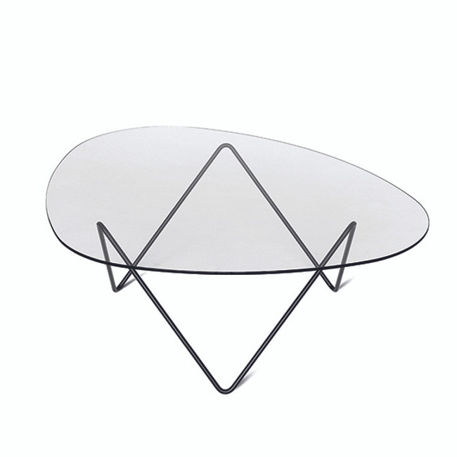 Gubi Pedrera Coffee Table in black frame