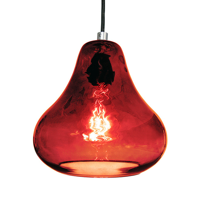 Luxello Pear Pendant in ruby