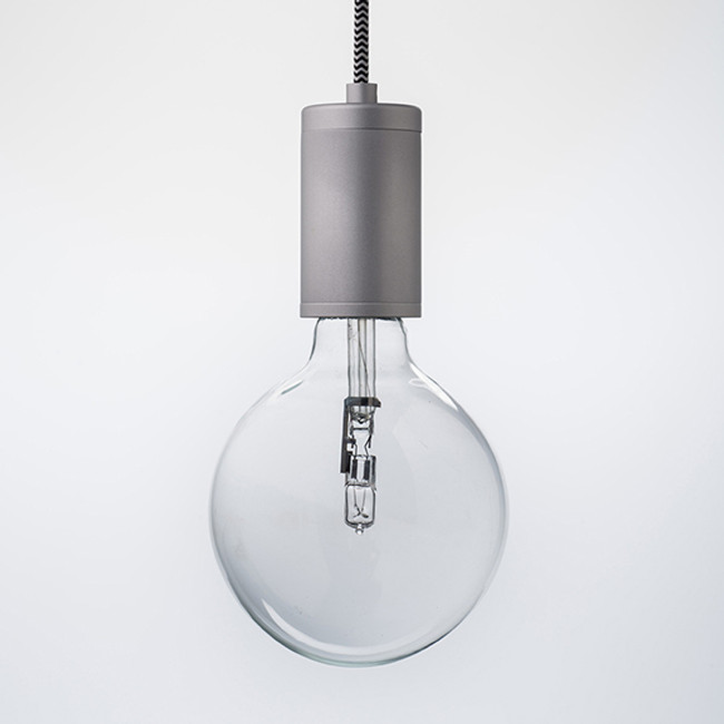 Pure Pendant Brushed Aluminium with ZigZag Cord