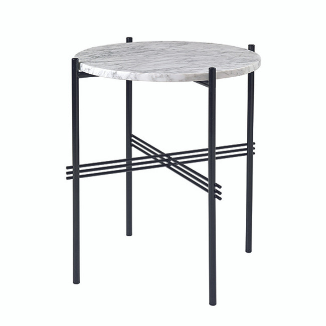 Gubi TS Table Small in White marble