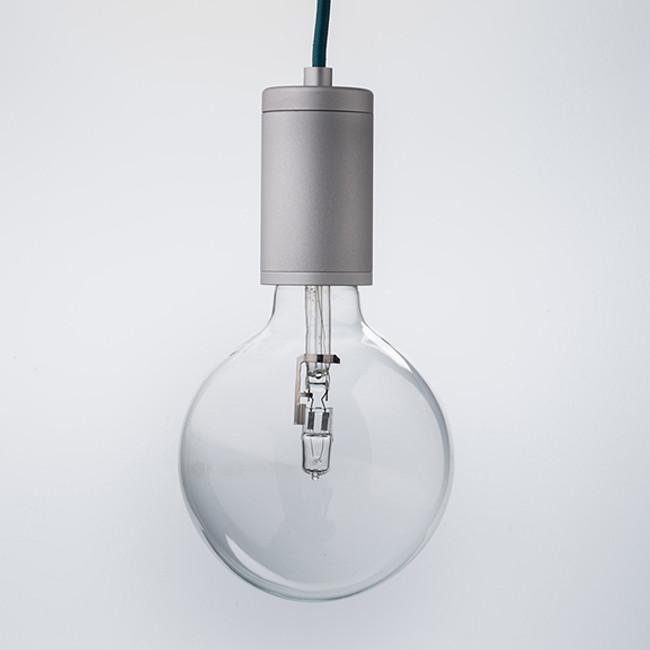Luxello  |  Pure Pendant Brushed Aluminium With Aqua Cord