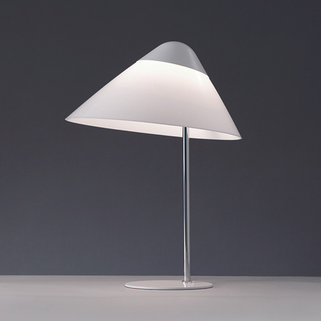 Hans J. Wegner, Opala Midi Table Lamp in white