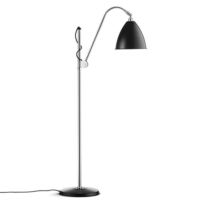 Gubi Bestlite Floor Lamp BL3M in black semi matt/chrome
