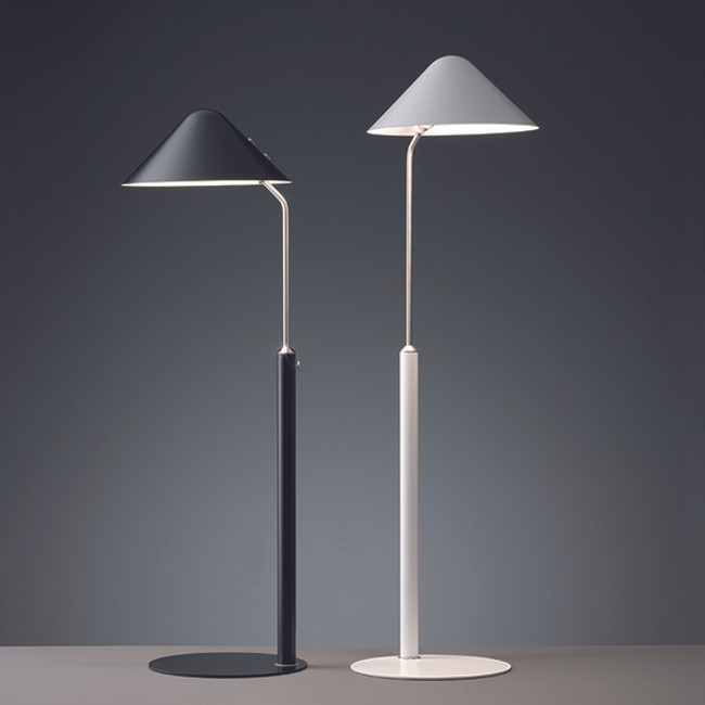 VIP Floor Lamps in black and white