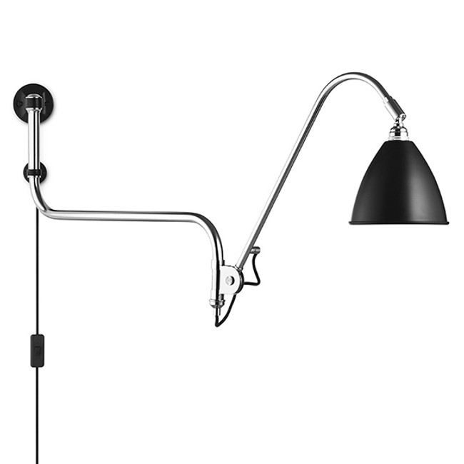 Gubi Bestlite Wall Lamp BL10 in black/chrome