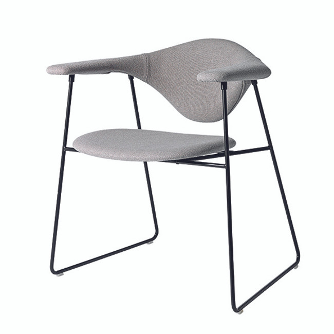 Gubi Masculo Chair in grey hallingdall 123 seat / black base