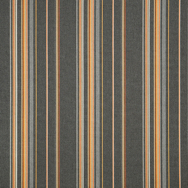 The Sunbrella Stanton Overcast fabric offers a perfect blend of grey and beige with orange/rust accents