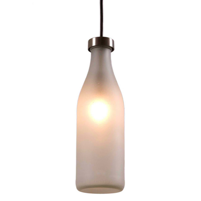 the Milk Bottle lamp by Droog was designed by Tojo Remy