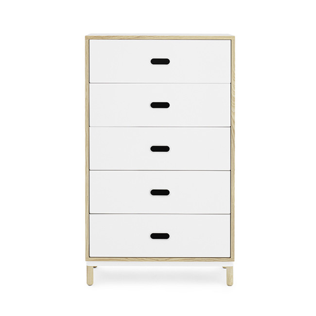 Normann Copenhagen Kabino Dresser with 5 Drawers in white