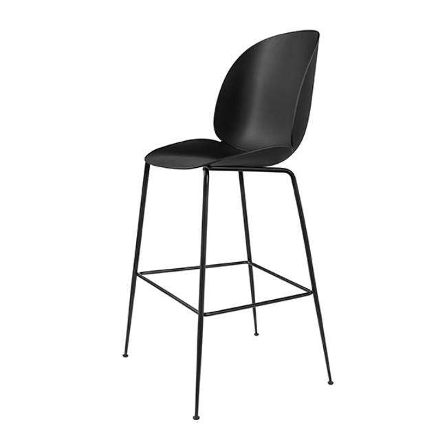 Gubi Beetle Bar Chair in Black seat/black base