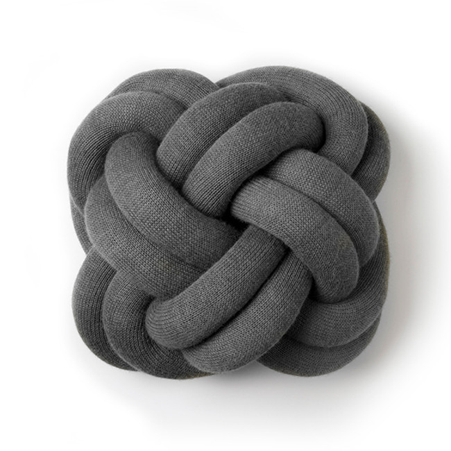 Knot Cushion in Grey