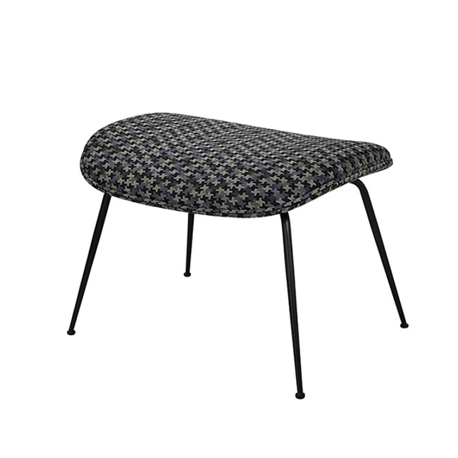 Gubi Beetle Ottoman in Backhausen Act MC525G10 / black base