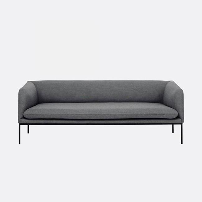 Ferm Living   Turn Sofa 3 Fiord in Light grey