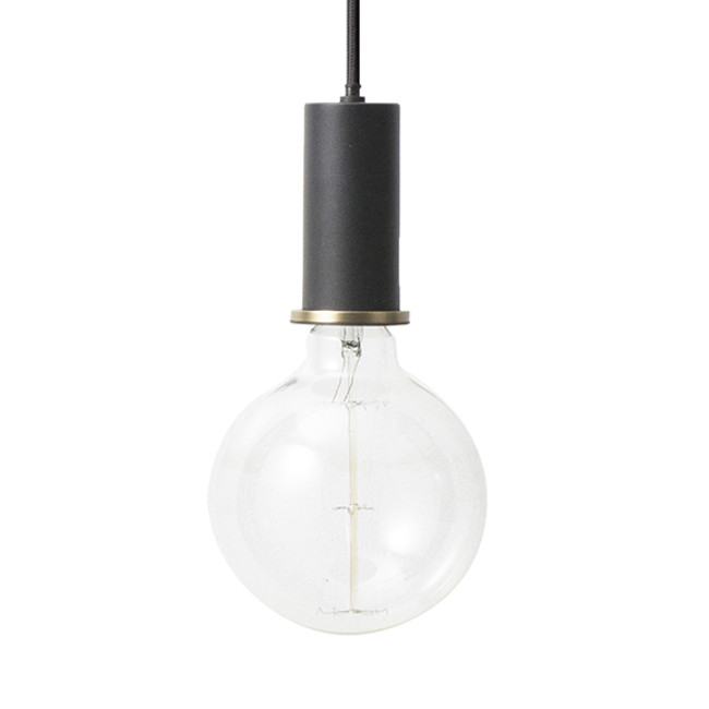 Ferm Living Socket Pendant Low in black