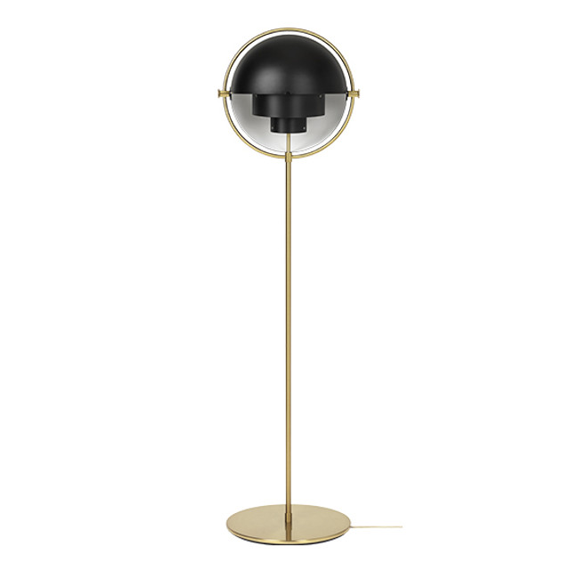 Gubi Multilite Floor Lamp in Black/brass