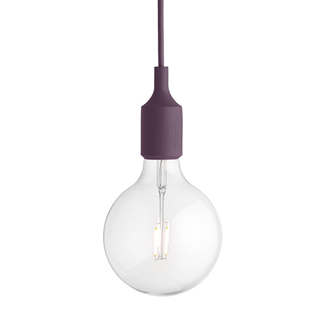 Muuto E27 Pendant in Burgundy