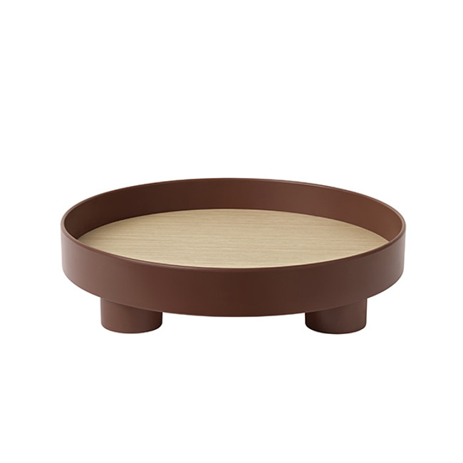 Muuto Platform Tray in dark red