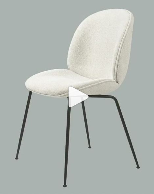 Gubi Beetle Chair Front Upholstered Conic Base