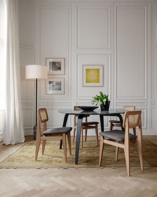Gubi C-Chair Dining Chair, All French Cane