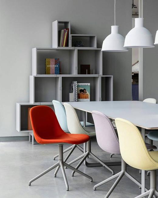 Muuto Fiber Side Chair Upholstered Swivel Base