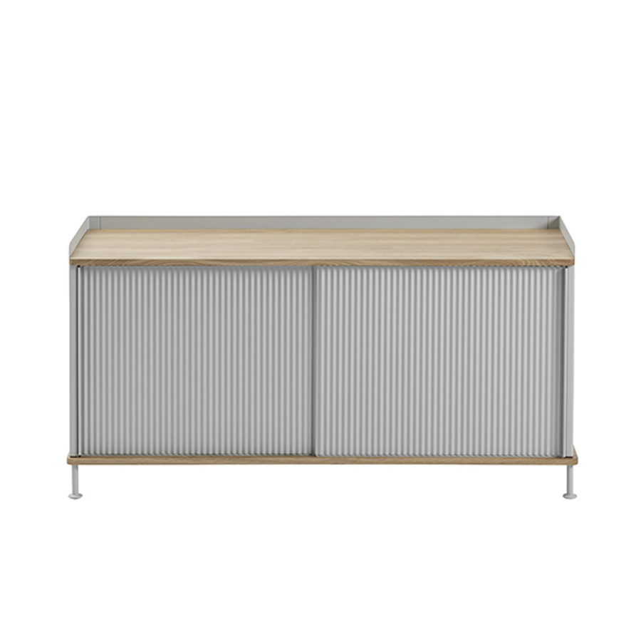 Muuto Enfold Sideboard Low in oak/grey
