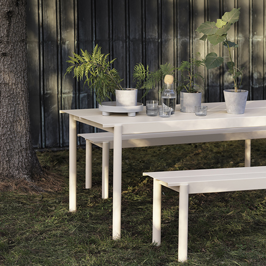 Muuto Linear Steel Table and Bench