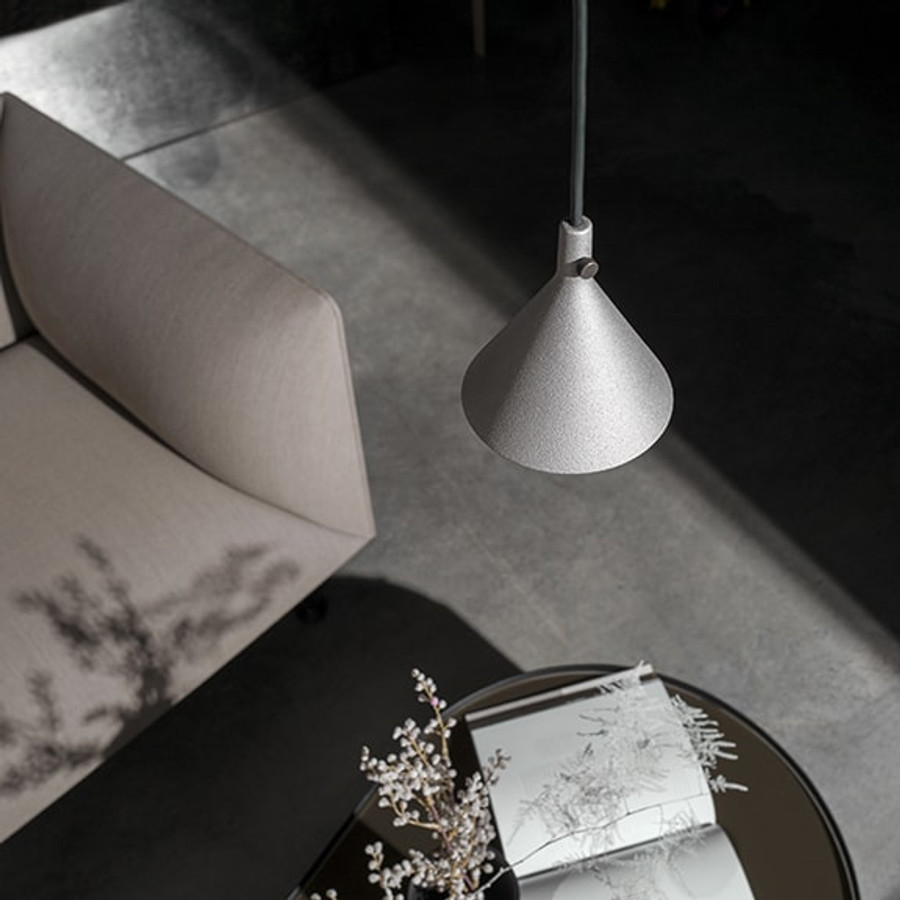 Cast Pendant takes inspiration from the traditional plumb weight