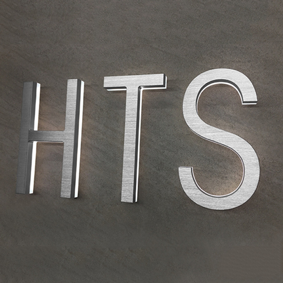 """Luxello     Modern LED House Letter 8"""" Outdoor"""