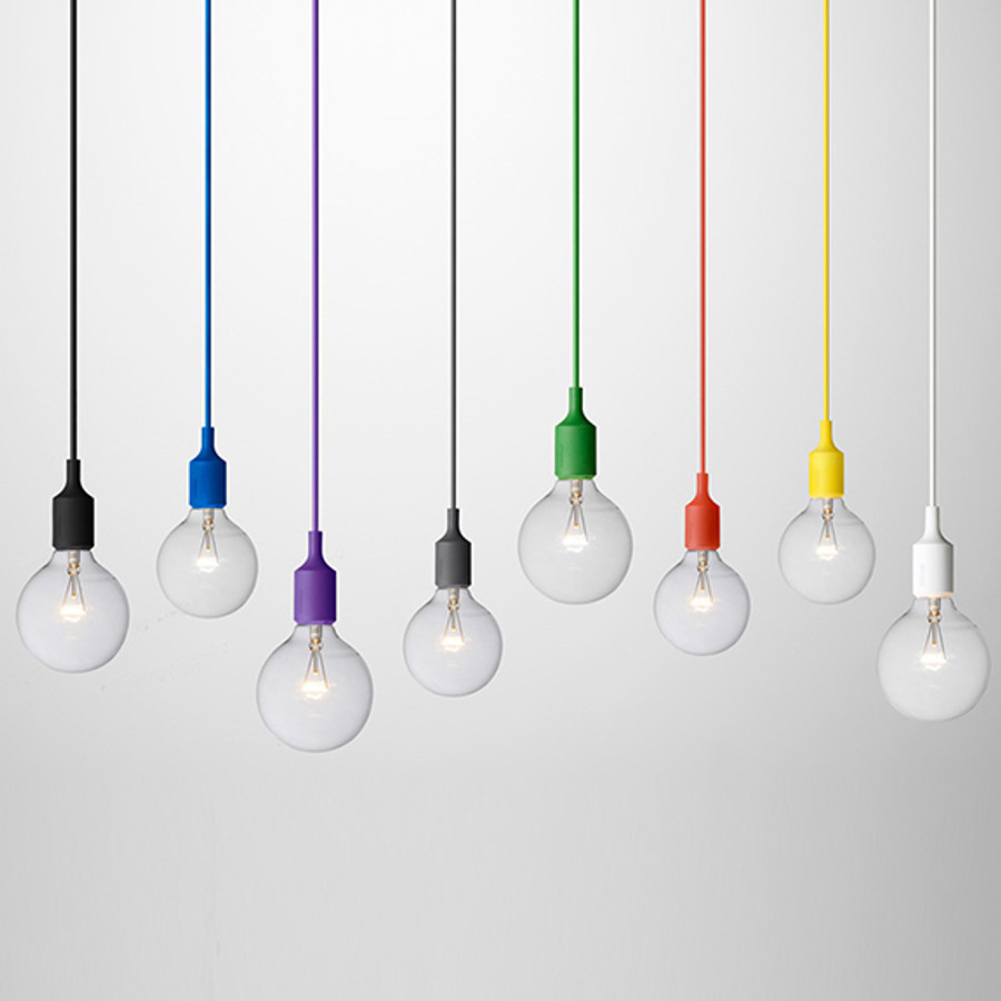 E27 pendant by Muuto is available in a multitude of colours