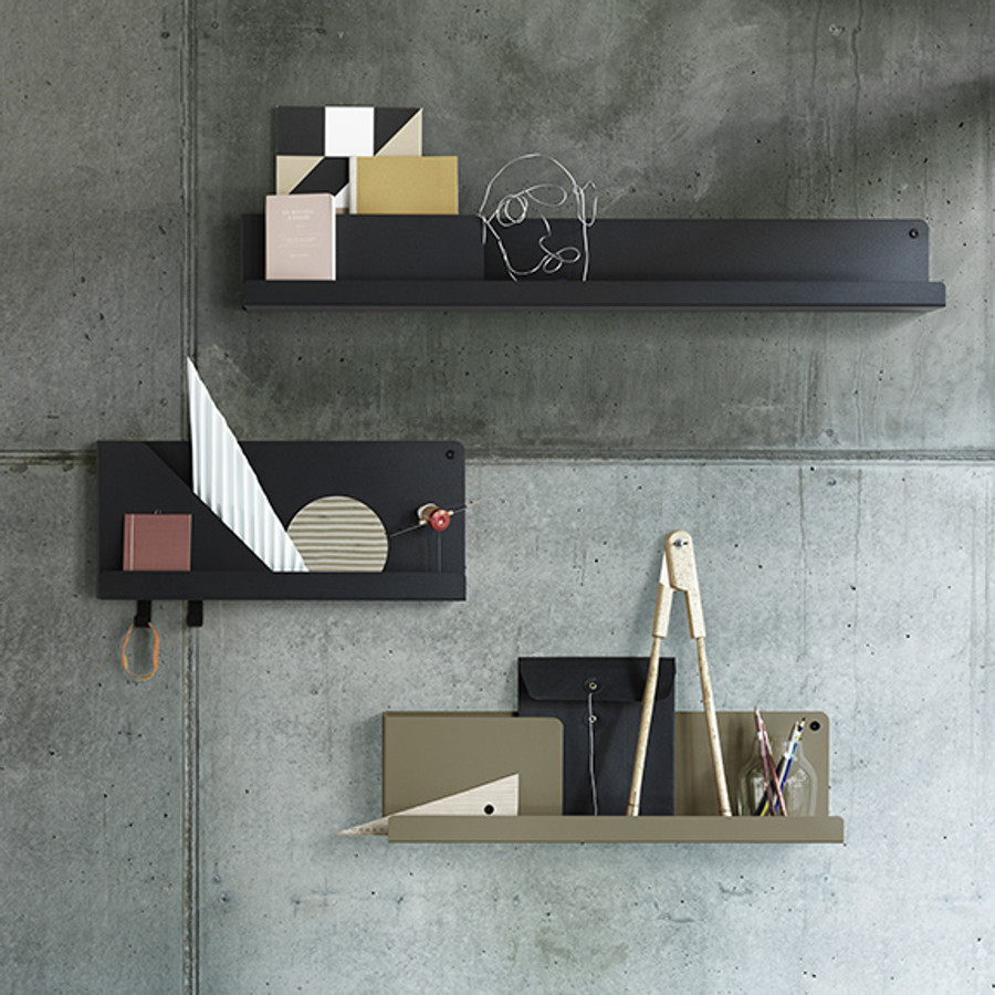 Folded Shelf is suitable for organising anything from mail to books, perfumes or spices
