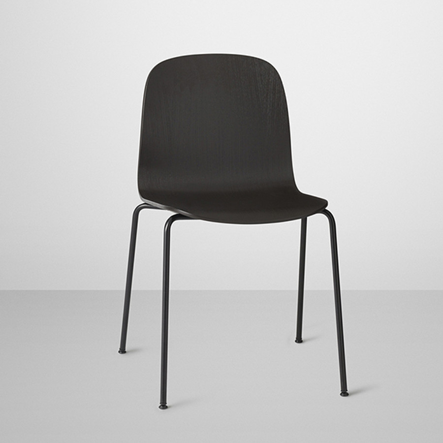 Muuto Visu Chair Tube Base in Black