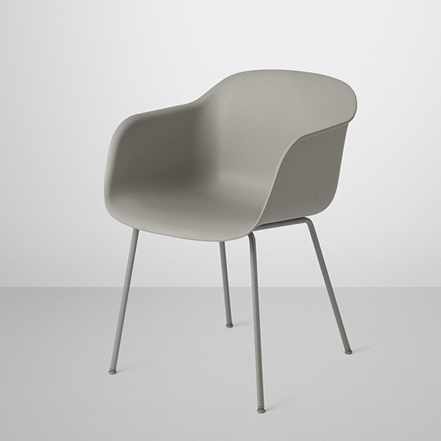 Muuto Fiber Chair in grey seat and base