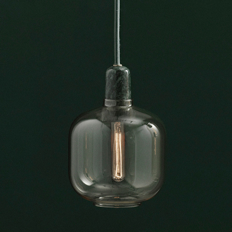 Normann Copenhagen Amp Lamp Small in Gold/Green