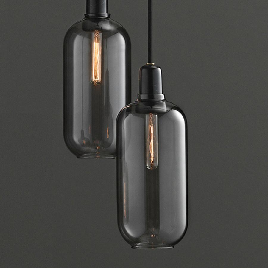 Amp lamp in Smoke/Black Large