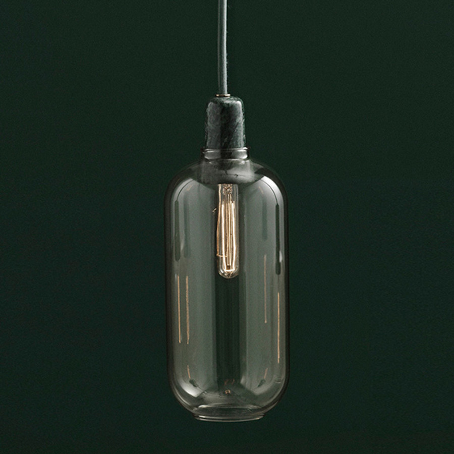 Amp Lamp in Gold/Green Large