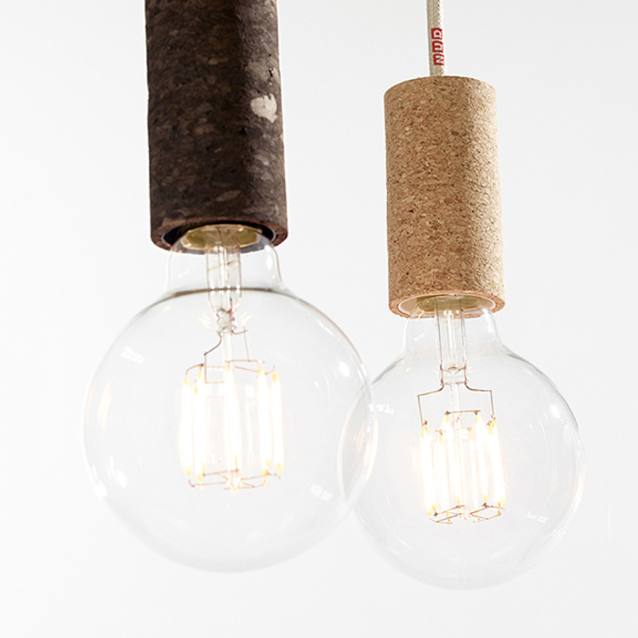 the NUD Cork Pendant is available in sand and soil colour