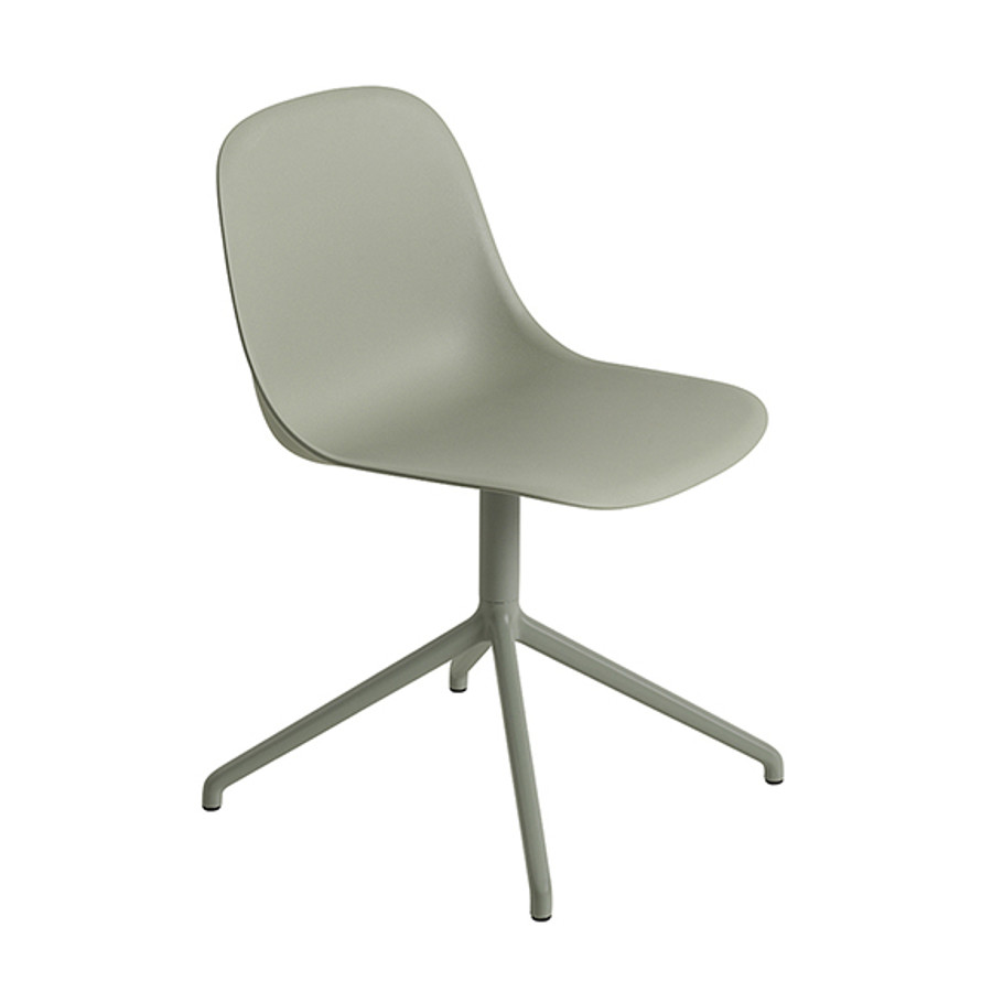 Muuto Fiber Side Chair Swivel Base in dusty green