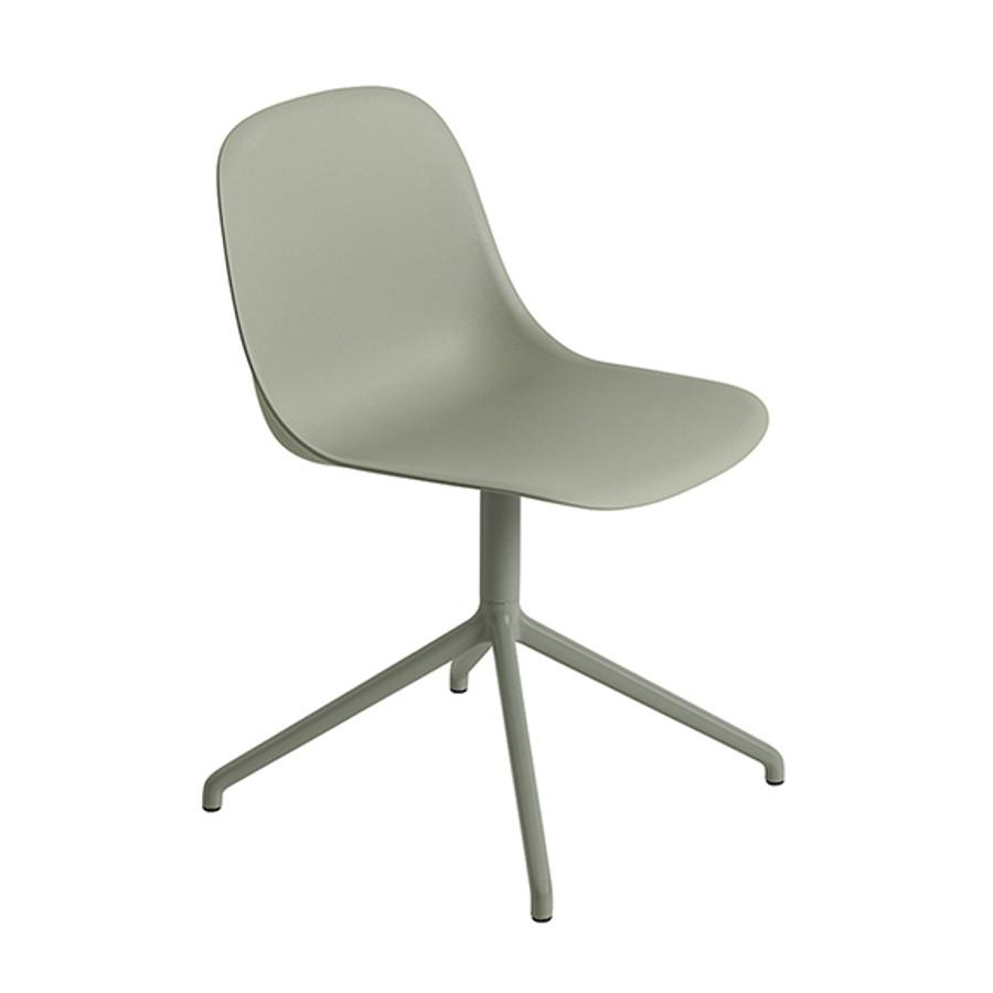 Muuto Fiber Side Chair Swivel Base in dusty green
