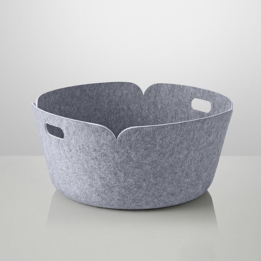 Muuto Restore Round Basket in grey