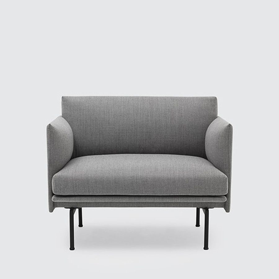 Muuto Outline Chair in Light Grey Fiord 151