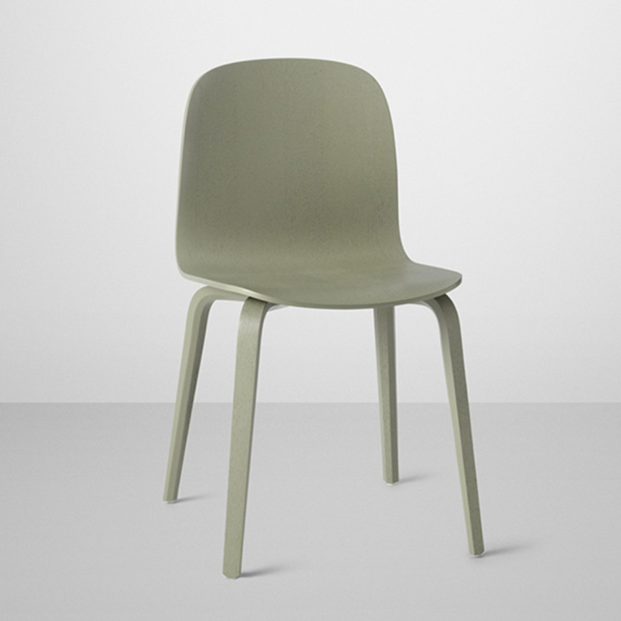 Visu chair in dusty green