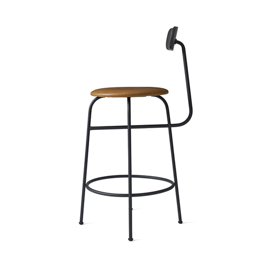 Menu Afteroom Counter Chair in Black/Cognac leather
