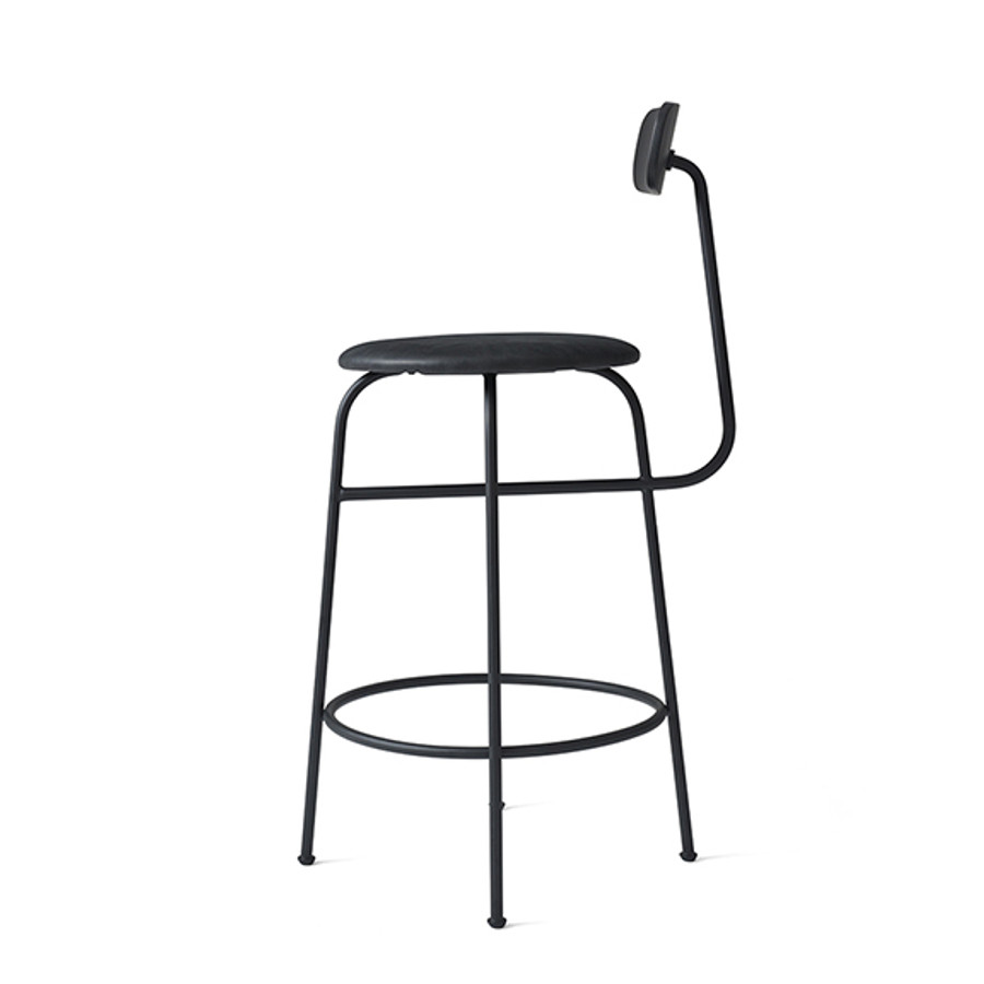 Menu Afteroom Counter Chair in Black/Black leather