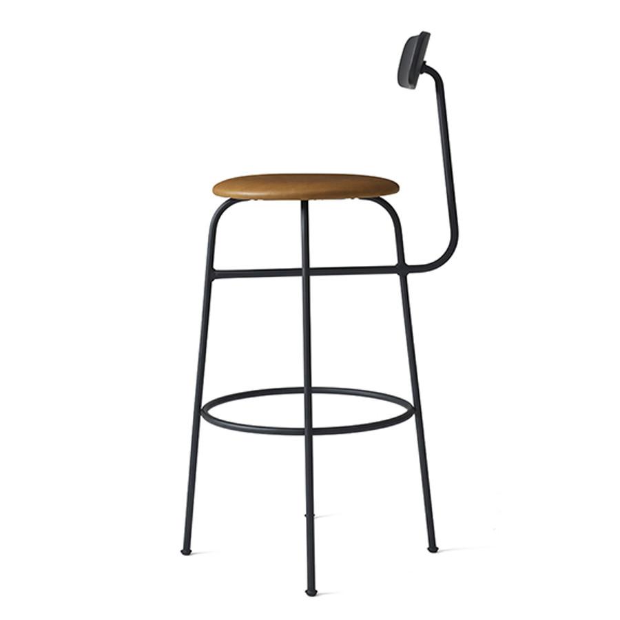 Menu Afteroom Bar Chair Upholstered Black/Cognac Leather
