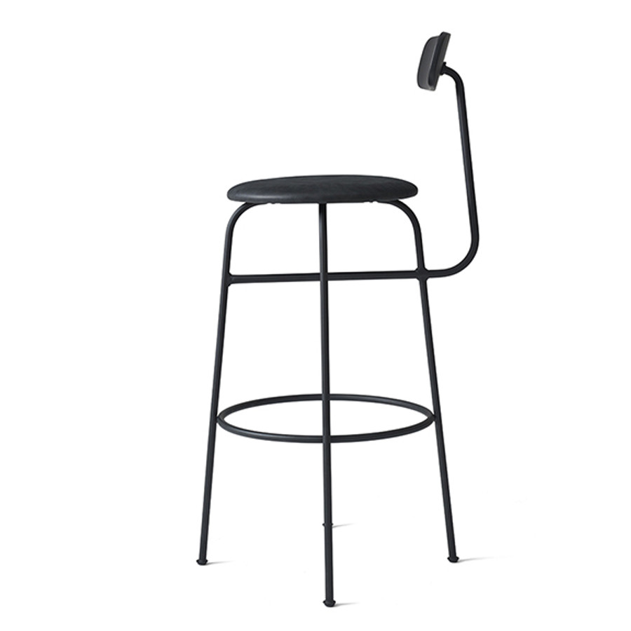Menu Afteroom Bar Chair Upholstered Black/Black Leather
